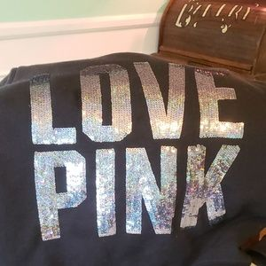 !!RARE!! Faux Fur lined PINK sequined hoodie